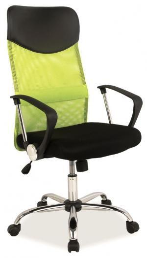 Kancelárska stolička - Signal - Q-025 zelená + čierna. Doprava ZDARMA. Sme autorizovaný predajca Signal.