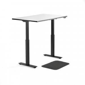 Kancelárska zostava: Stôl Nomad + podložka pre prácu v stoji