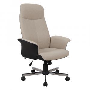 Kancelárske kreslo, béžová/čierna, INGEL