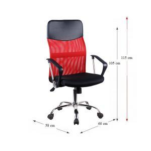 Kancelárske kreslo, červená/čierna, TC3-973M 2 NEW