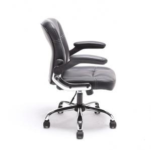 Kancelárske kreslo, čierna ekokoža, GARED