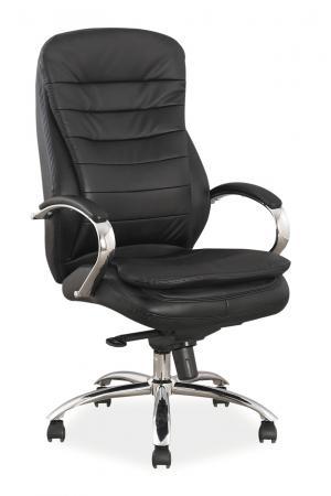 Kancelárske kreslo - Signal - Q-154 koža (čierna koža). Doprava ZDARMA. Sme autorizovaný predajca Signal.