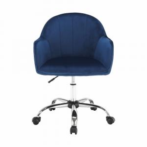 Kancelárske kreslo, Velvet látka modrá/chróm, EROL