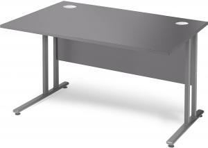 Kancelársky pracovný stôl Flexus, rovný, 1200x800 mm, šedá
