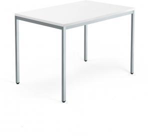 Kancelársky pracovný stôl Modulus, 1200x800 mm, biela/strieborná