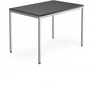 Kancelársky pracovný stôl Modulus, 1200x800 mm, čierna/strieborná