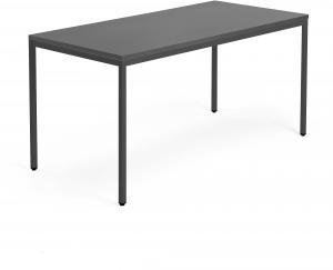 Kancelársky pracovný stôl Modulus, 1600x800 mm, čierna/čierna