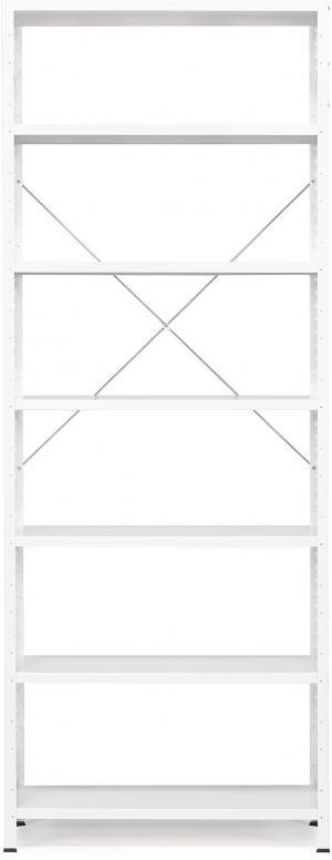 Kancelársky regál Light, základná sekcia, 2500x1010x300 mm, biely