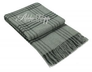 Kašmírová deka ANDORA Grey Karo   140x200 cm