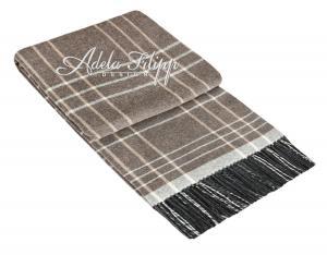 Kašmírová deka ANDORA Light Brown Karo   140x200 cm
