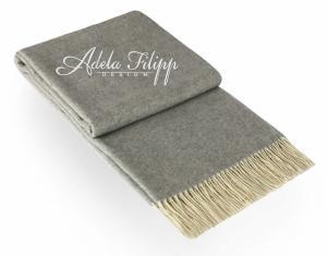 Kašmírová deka ANDORA Light Grey UNI   140x200 cm