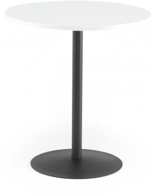 Kaviarenský stôl Astrid, Ø 700 x V 735 mm, biela / čierna