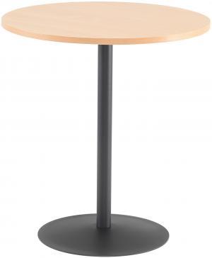 Kaviarenský stôl Astrid, Ø 700 x V 735 mm, buk / čierna