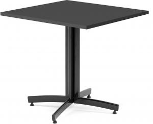 Kaviarenský stôl Sally, 700x700x720, čierna, čierna