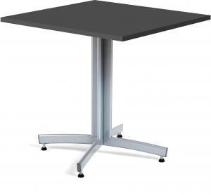 Kaviarenský stôl Sally, 700x700x720, čierna, šedá