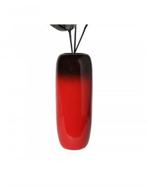Keramická podlahová váza Dante, 80 cm, červená / čierna