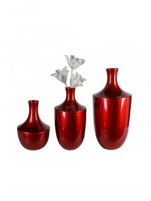 Keramická váza Amprion, 50 cm, červená