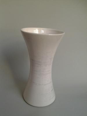 keramická váza sonáta biela 12 x 23 cm