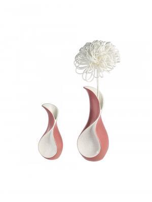 Keramická váza Swing, 30 cm, krémová/ružová