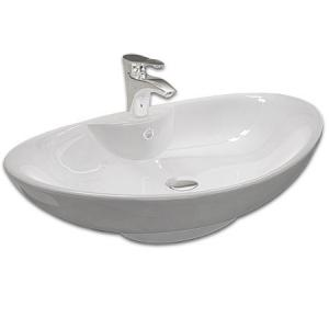 Keramické  umývadlo na dosku ROSA 66 cm, biele