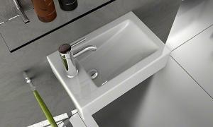 Keramické  umývadlo na dosku  zúžené SONIA , biele