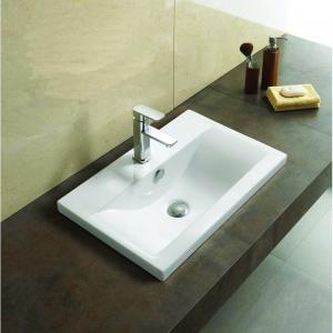 Keramické umývadlo zápustné MEXEN EMMA 42x39 cm biele
