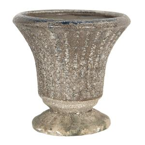 Keramický kvetináč v antickom štýle Tasse - Ø 11 * 11 cm