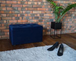KF Taburet s úložným priestorom Carmen - modrá