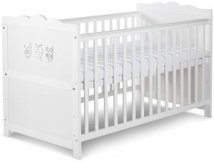 KL Biela detská rastúca postieľka Marsell 140x70