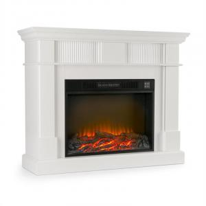 Klarstein Bern, elektrický krb, 750/1500 W, LED oheň, diaľkový ovládač, MDF, biely