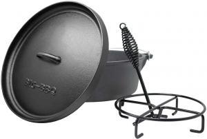 Klarstein Galloway, liatinový hrniec, 9.0 barbecue hrniec, liatina, nožičky, veľkosť L/9 qt/8 l