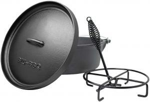 Klarstein Galloway, liatinový hrniec, 9.0 barbecue hrniec, liatina, žíhaný, veľkosť L/9 qt/8 l