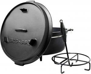 Klarstein Guernsey, prémiový liatinový hrniec, 12.0 barbecue hrniec, liatina, nožičky, veľkosť XL/12 qt/11,5 l