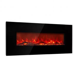 Klarstein Lausanne Long, elektrický krb, 1600 W, 2 vykurovacie úrovne, 128 cm, čierny