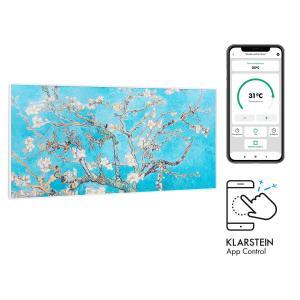 Klarstein Wonderwall Air Art Smart, infračervený ohrievač, 120 x 60 cm, 700 W, aplikácia, mandľový kvet