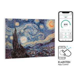 Klarstein Wonderwall Air Art Smart, infračervený ohrievač, 80 x 60 cm, 500 W, hviezdna noc