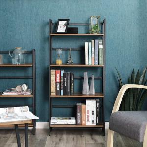 Knihovna policový regál skládací hnědá 60x126 cm