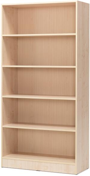 Knižnica Cleo, 5 políc, 2000x1000x310 mm, breza