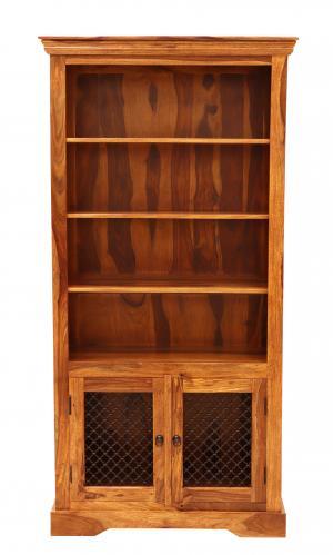 Knižnica Jali 100x200x45 indický masív palisander - Only stain