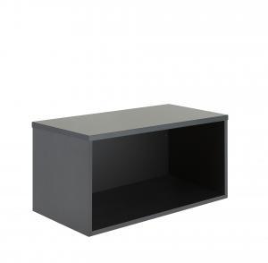 Knižnica Modulus, 400x800x400 mm, čierna