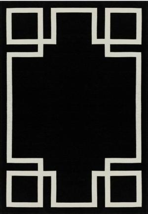 Koberec Carpet Decor Art Deco HAMPTON, čierny