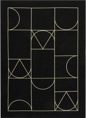 Koberec Carpet Decor Art Deco SIGNET, čierny