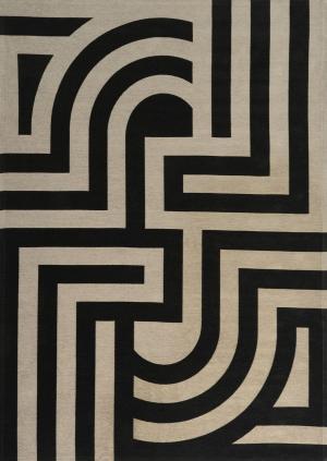 Koberec Carpet Decor Art Deco TIFFANY, čierny