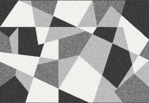 Koberec, čierna/sivá/biela, 57x90, SANAR