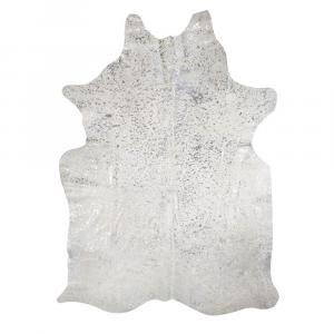 Koberec hovädzej kože šedá / strieborná - 250 * 150 * 0,3 cm