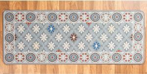 Koberec Retro Barva: sivá/potlač, Velikost: 57 x 250 cm