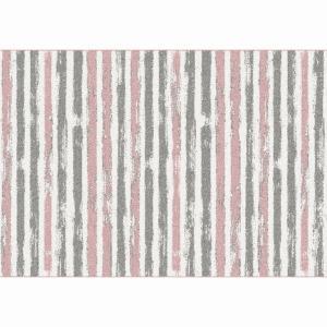 Koberec, ružová/sivá/biela, 133x190, KARAN