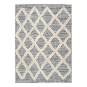 Bielo-sivý koberec Universal Cheroke Geo, 155 x 230 cm