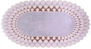 Koberec Vitauss Zinno Oval Kahve, 80×120 cm