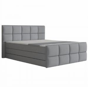 Komfortná posteľ, sivá látka, 160x200, RAVENA MEGAKOMFORT VISCO